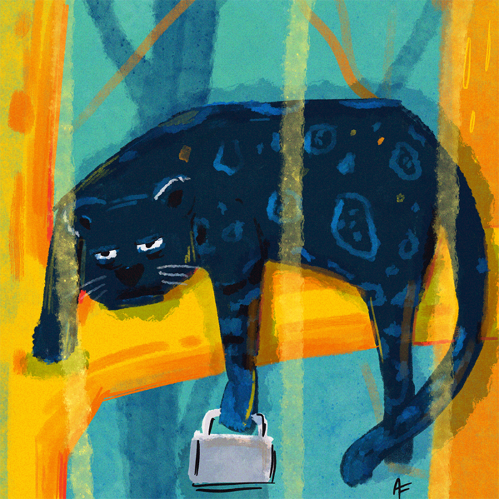 Panther-Kaffeeliebhaber-Illustration-bunt-Kinderbuch-Illustratorin-München